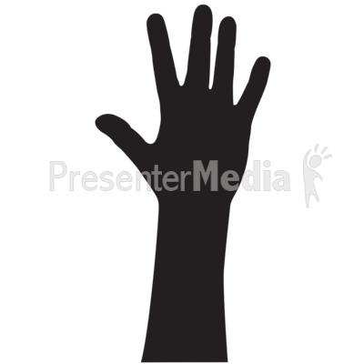 Hand Silhouette Child Presentation clipart
