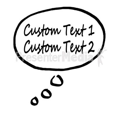 Thought Bubble Custom Text Presentation clipart