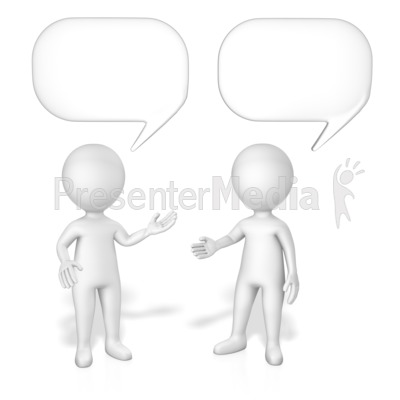 Figures Speech Bubbles Presentation clipart