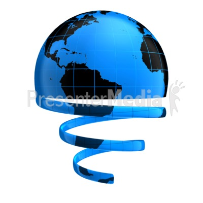 Globe Unraveling Presentation clipart