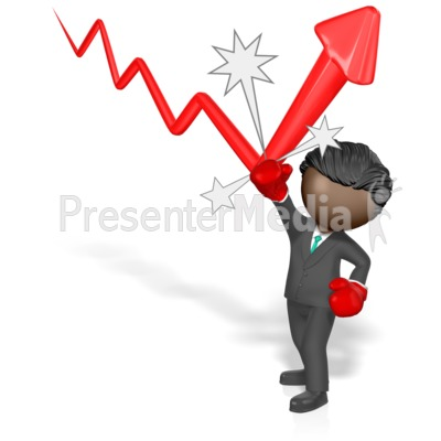Businessman Punch Arrow Presentation clipart