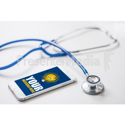 Stethoscope By Custom Phone Presentation clipart