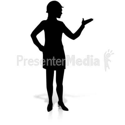 Woman Display Construction Silhoutte Presentation clipart