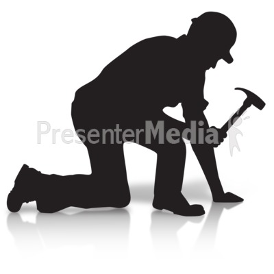 Construction Silhouette Hammer Presentation clipart
