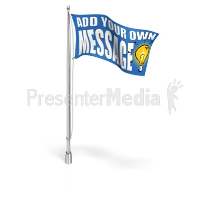 Custom Flag On Flagpole  Presentation clipart