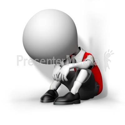 Boy Child Huddled In Corner Presentation clipart