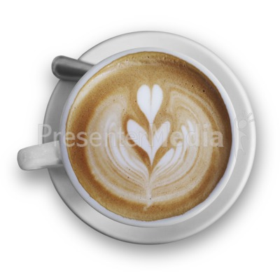 Top Of The Cappuccino Presentation clipart