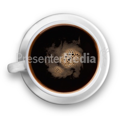 Top Of The Black Coffee Cup Presentation clipart