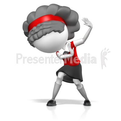 Girl Cowering In Fear Presentation clipart