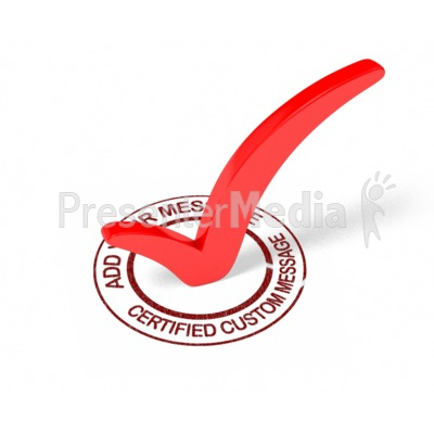 Certified Check Mark Custom Presentation clipart