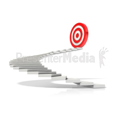 Stairway To Target Presentation clipart