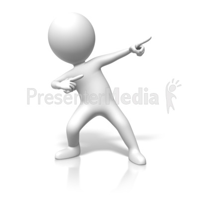 Figure Superstar Pose Presentation clipart