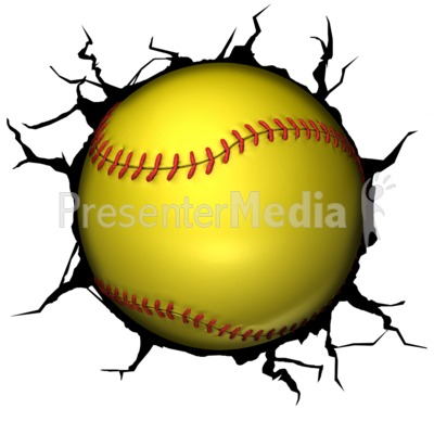 Softball Break Through Presentation clipart