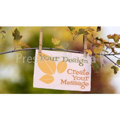 Message Card On Branch Presentation clipart
