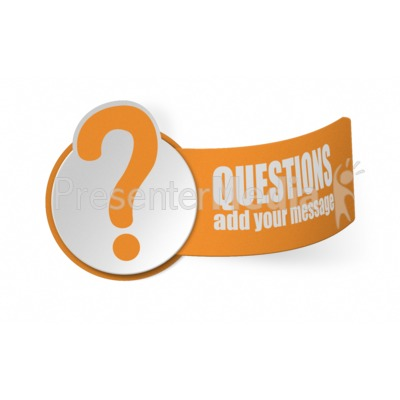 Paper Question Mark Presentation clipart