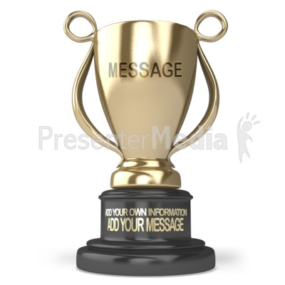 Gold Trophy Custom Presentation clipart