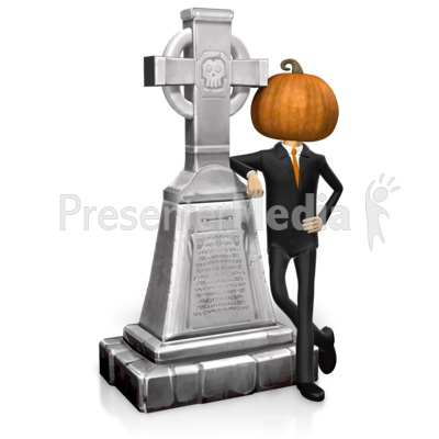 Business Halloween Grave Presentation clipart