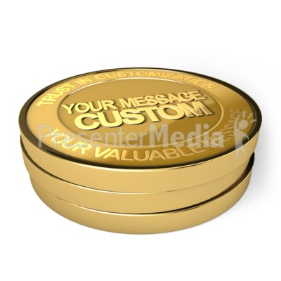 Gold Coin Custom Presentation clipart