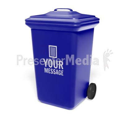 Garbage Bin Custom Presentation clipart