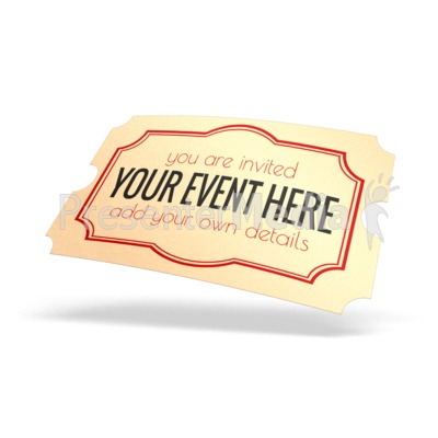 Ticket Custom Presentation clipart