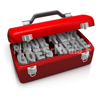 Tool Box Custom Text Presentation clipart