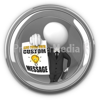 Businessman In Eyehole With Sign Presentation clipart