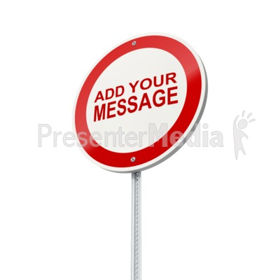 European Street Sign Presentation clipart
