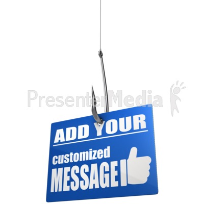 Custom Sign On Hook Presentation clipart