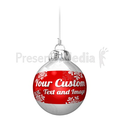 Custom Ornament On String Presentation clipart