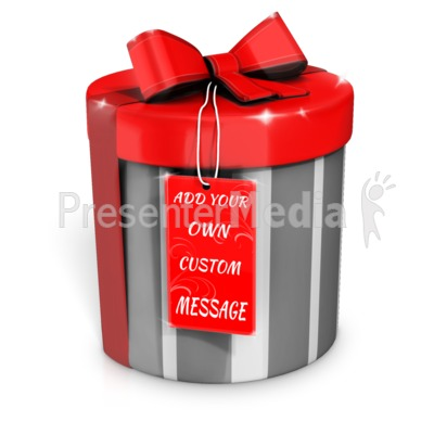 Present with Custom Card Presentation clipart