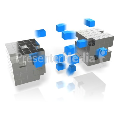 Cube Arrays Transfer Presentation clipart