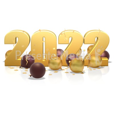 Custom Year In Balloons And Confetti Presentation clipart