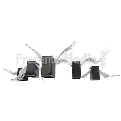 Servers Flying In Formation Presentation clipart