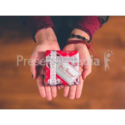Christmas Present Palm Presentation clipart