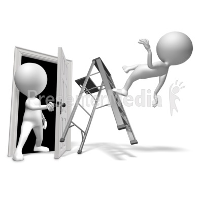 Walk Through Door Accident Presentation clipart