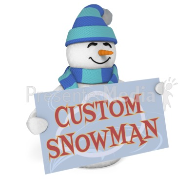 Snowman Sign Custom Presentation clipart