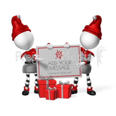 Elves Custom Sign Presentation clipart