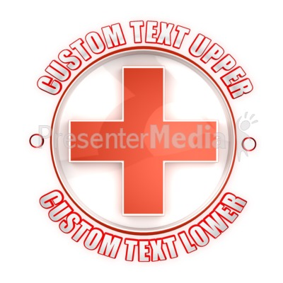 Health Cross Symbol Custom Presentation clipart