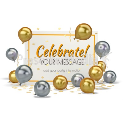 Balloons With Card Presentation clipart