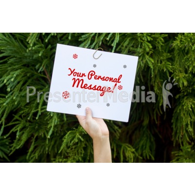 Hand Sign Seasonal Presentation clipart