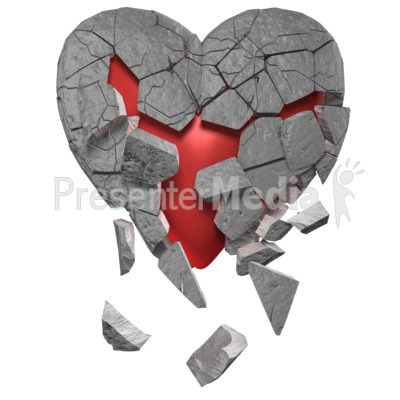 Breaking Heart Of Stone Presentation clipart