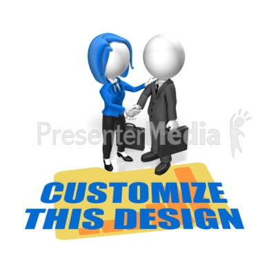 Business People Greet Custom Presentation clipart