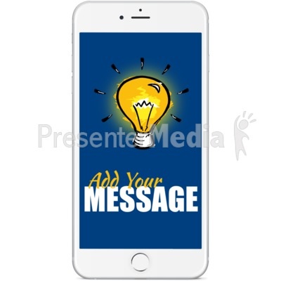 White Smartphone Front Facing Presentation clipart