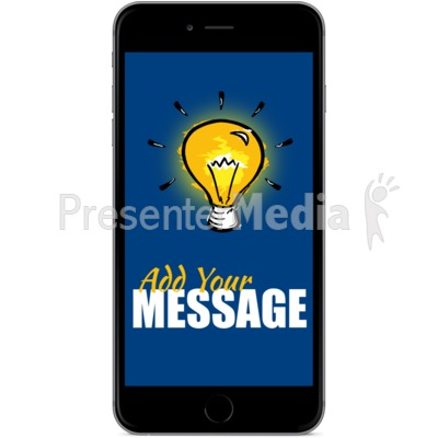 Black Smartphone Front Facing Presentation clipart