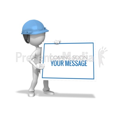 Woman Construction Sign Presentation clipart