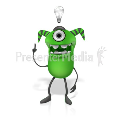 M Monster Light Bulb Idea Presentation clipart