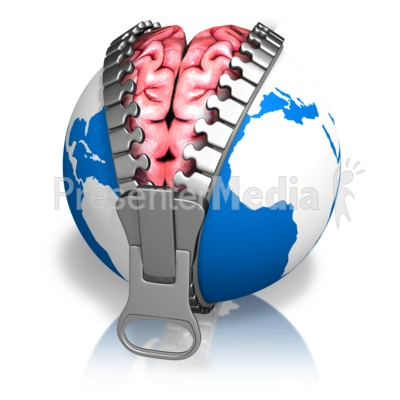 Global Brain Reveal Earth Presentation clipart