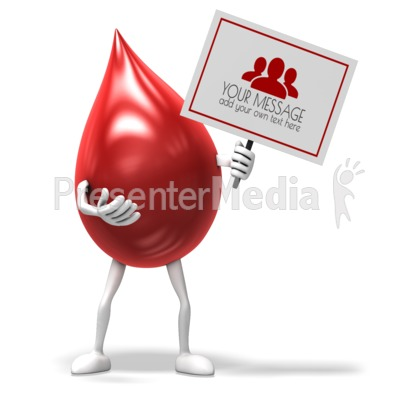Blood Drop Sign Presentation clipart