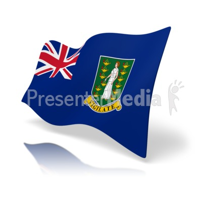 Flag British Virgin Islands Presentation clipart