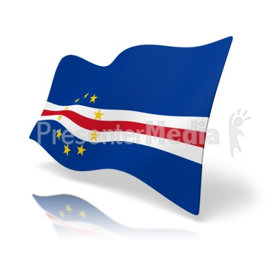Flag Cape Verde Presentation clipart